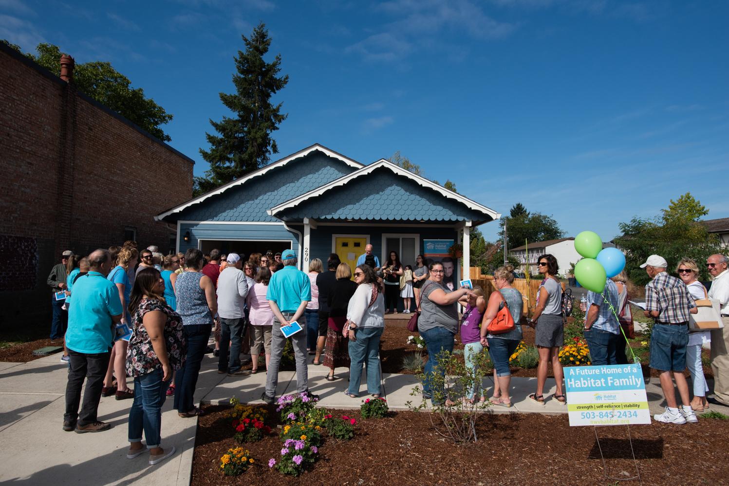 Habitat home dedication