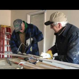 Volunteers work on Habitat home in Mt. Angel