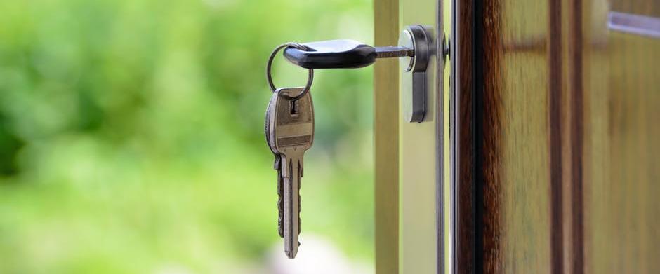 Keys hanging from door